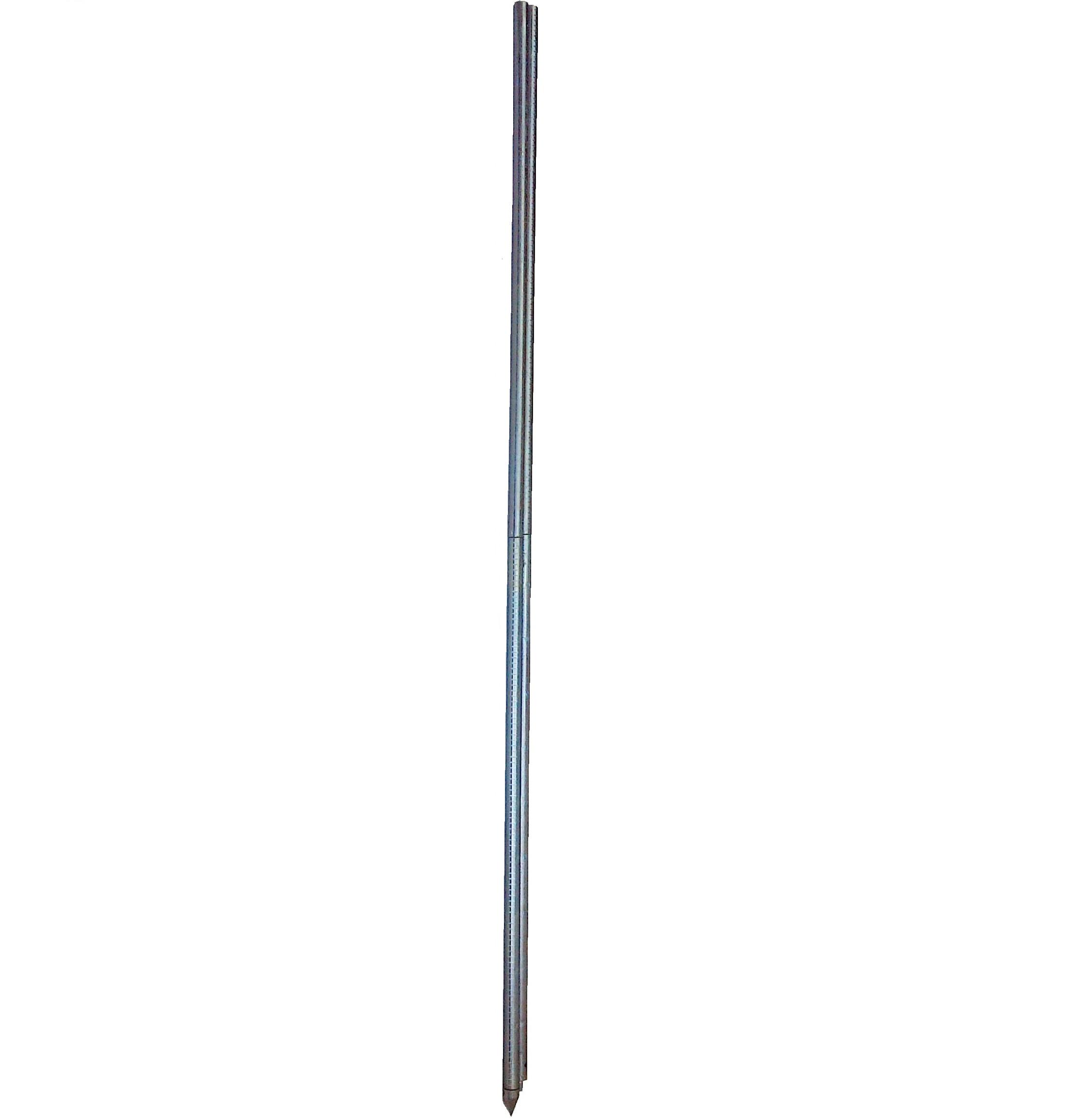 Рейка гидрометрическая ГР-56-02 (оцинкованная или нержавеющая сталь — 2 секции по 2 метра)
