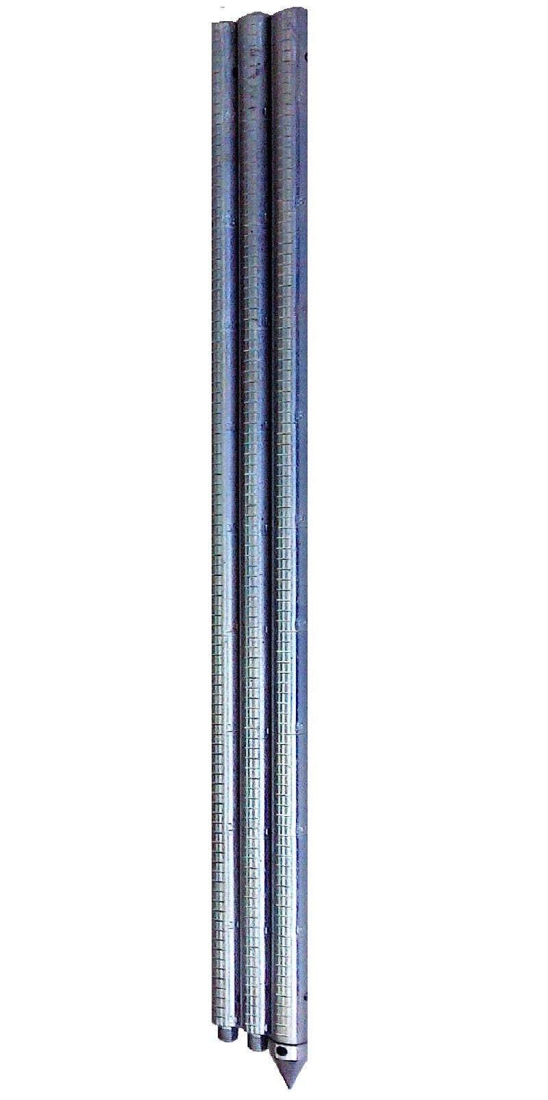 Рейка гидрометрическая ГР-56-01 (оцинкованная или нержавеющая сталь — 3 секции по 1метру)