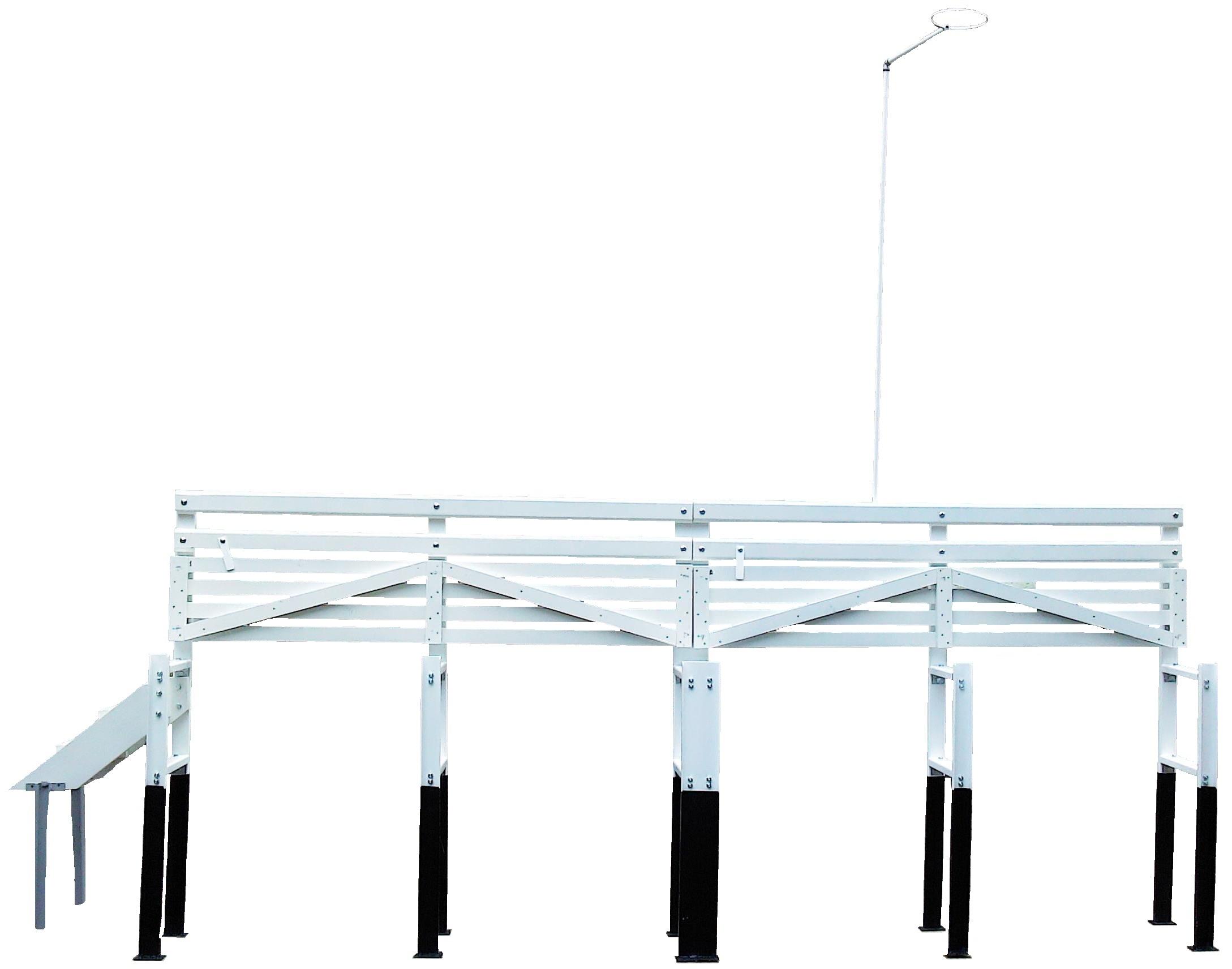 Реечный помост для установки вытяжных почвенно-глубинных термометров ТПВ-50