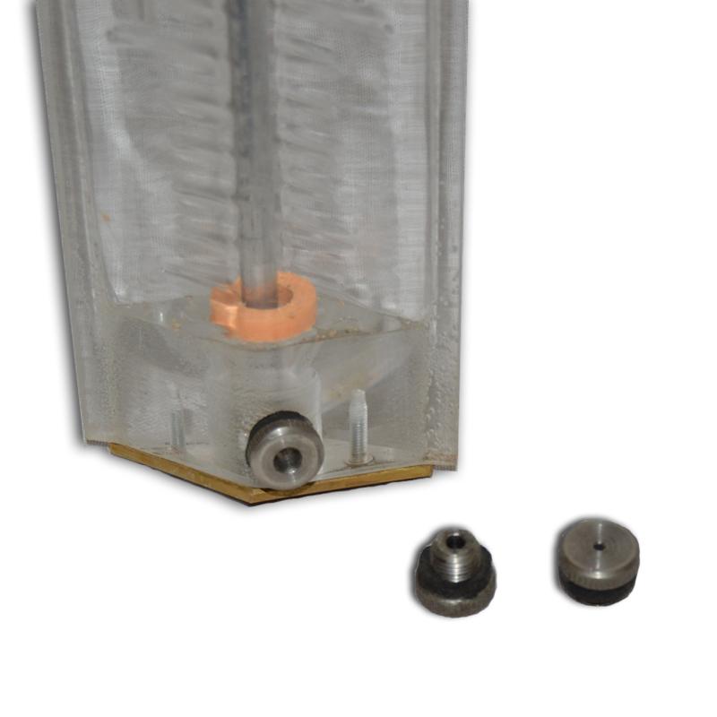 Рейка водомерная с успокоителем ГР-23 (вид с низу)